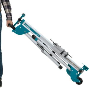 Makita 18-Volt X2 LXT (36V) Brushless 12 in. Dual-Bevel Sliding Compound Miter Saw with bonus Compact Folding Miter Saw Stand