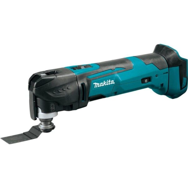 Makita 18-Volt LXT Lithium-Ion Cordless Variable Speed Oscillating Multi-Tool (Tool-Only) With Blade and Accessory Adapters