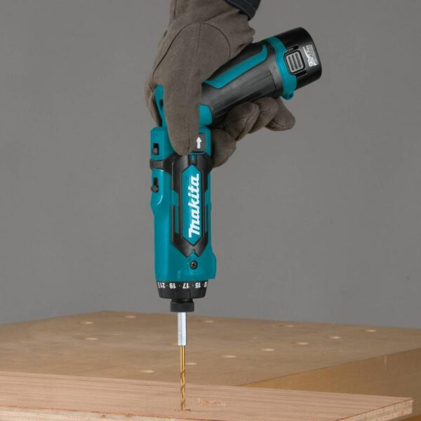 Makita 7.2-Volt Lithium-Ion 1/4 in. Cordless Hex Driver-Drill Kit with Auto-Stop Clutch