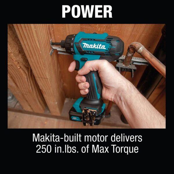 Makita 12-Volt max CXT Lithium-Ion Cordless1/4 in. Hex Screwdriver Kit, 2.0Ah