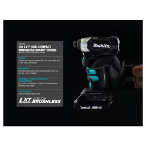 Makita 18-Volt LXT Sub-Compact Brushless Impact Driver, 11/16 in. Rotary Hammer and Recipro Saw with bonus 18V LXTStarter Pack