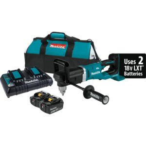 Makita 18-Volt X2 (36-Volt) 5.0 Ah LXT Lithium-Ion Brushless Cordless 1/2 in. Right Angle Drill Kit
