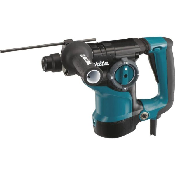 Makita 7 Amp 1 in. Corded SDS-Plus Concrete/Masonry AVT Rotary Hammer Drill w/ Vacuum Hose, SDS-Plus Dust Collection Attachment