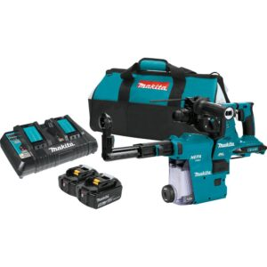 Makita 18-Volt X2 LXT 36-Volt 1-1/8 in. Brushless Cordless AVT Rotary Hammer Kit with HEPA Dust Extractor 5.0 Ah