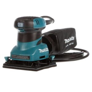 Makita 2 Amp Corded 1/4 Sheet Finishing Sander with 60G Paper, 100G Paper, 150G Paper, Dust Bag and Punch Plate
