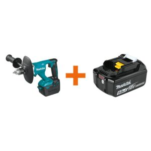 Makita 1/2 in. 18-Volt LXT Lithium-Ion Cordless Brushless Mixer (Tool-Only) with Bonus 18-Volt LXT Battery Pack 5.0Ah