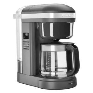 KitchenAid 12-Cup Matte Grey Drip Coffee Maker with Spiral Showerhead
