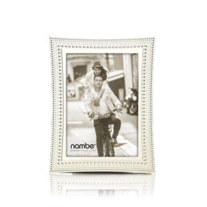 Nambe Beaded Metal Picture Frame 5 x 7