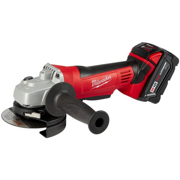 Milwaukee M18 18-Volt Lithium-Ion Cordless 4-1/2 in. Cut-Off Grinder Kit with (2) 3.0Ah Batteries, Charger, Tool Bag