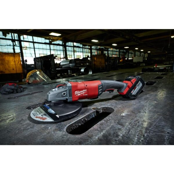 Milwaukee M18 FUEL 18-Volt Lithium-Ion Brushless Cordless 7/9 in. Grinder Kit W/ (2) 12.0Ah Batteries, Bag & Rapid Charger