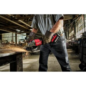Milwaukee M18 FUEL 18-Volt Lithium-Ion Brushless Cordless 4-1/2 in./6 in. Grinder with Slide Switch with Lock On (Tool-Only)