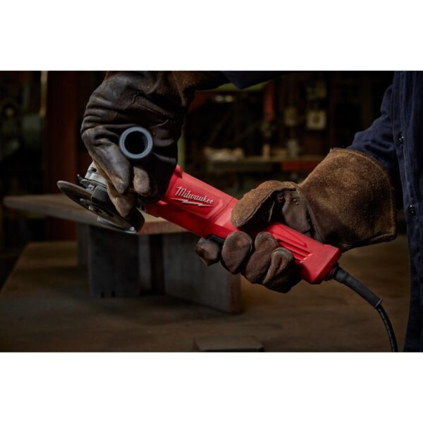 Milwaukee 11 Amp Corded 4-1/2 in. Small Angle Grinder Paddle No-Lock