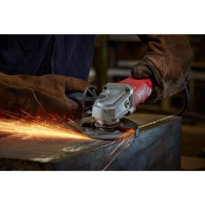 Milwaukee 11 Amp Corded 4-1/2 in. Small Angle Grinder with No-Lock Paddle