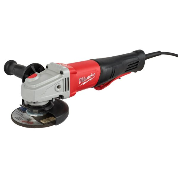 Milwaukee 11 Amp Corded 4-1/2 in. or 5 in. Braking Small Angle Grinder Paddle with No-Lock