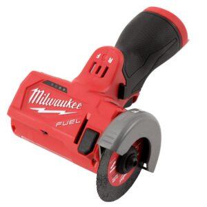 Milwaukee M12 FUEL 12-Volt 3 in. Lithium-Ion Brushless Cordless Cut Off Saw Kit with M12 Flood Light