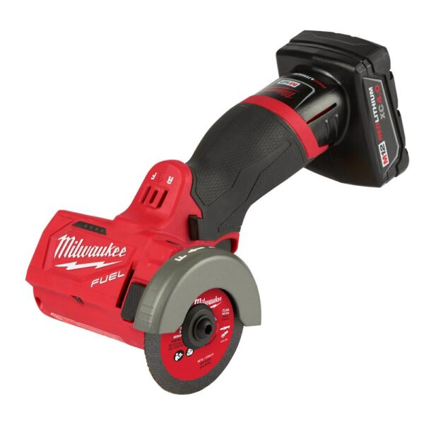 Milwaukee M12 FUEL 12-Volt 3 in. Lithium-Ion Brushless Cordless Cut Off Saw Kit W/ M12 3/8 in. Ratchet