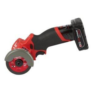 Milwaukee M12 FUEL 12-Volt 3 in. Lithium-Ion Brushless Cordless Cut Off Saw Kit with Bonus M12 2.0 Ah Battery