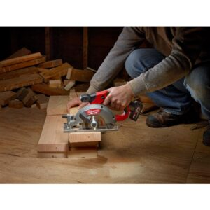 Milwaukee M12 FUEL 12-Volt Lithium-Ion Brushless 5-3/8 in. Cordless Circular Saw with 4.0 Ah M12 Battery