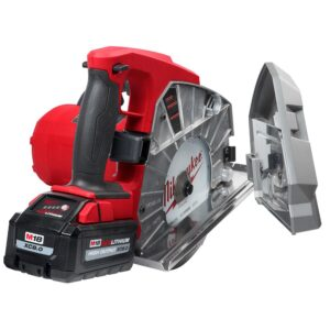 Milwaukee M18 FUEL 18-Volt 8 in. Lithium-Ion Brushless Cordless Metal Cutting Circular Saw Kit with 8.0 Ah Battery, Rapid Charger