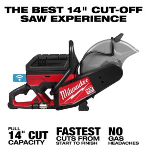 Milwaukee MX FUEL Lithium-Ion Cordless 14 in. Cut Off Saw Kit with (2) Batteries and Charger
