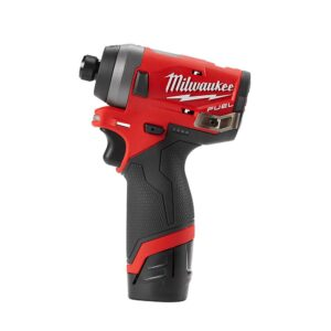Milwaukee M12 12-Volt Lithium-Ion Cordless 3/8 in. Ratchet & FUEL 1/4 in. Impact Driver Combo Kit with (1) 2.0Ah Battery & Charger
