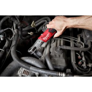 Milwaukee M12 FUEL 12-Volt Lithium-Ion Brushless Cordless 1/4 in. Ratchet with M12 2.0Ah Battery