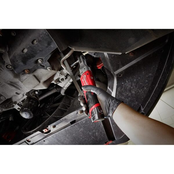 Milwaukee M12 FUEL 12-Volt Lithium-Ion Brushless Cordless 3/8 in. Ratchet and 1/2 in. Impact Wrench with two 3.0 Ah Batteries
