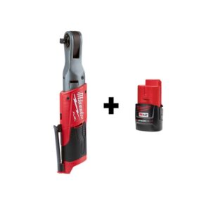 Milwaukee M12 FUEL 12-Volt Lithium-Ion Brushless Cordless 3/8 in. Ratchet with M12 2.0Ah Battery