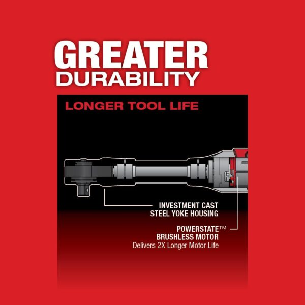 Milwaukee M12 FUEL 12-Volt Lithium-Ion Brushless Cordless 3/8 in. Extended Reach Ratchet Kit with One 2.0 Ah Batteries