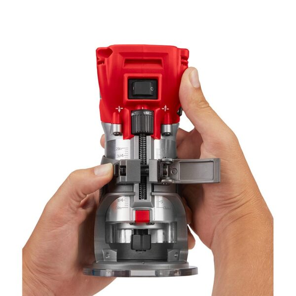 Milwaukee M18 FUEL 18-Volt Plunge Base Lithium-Ion Brushless Cordless Compact Router (Tool-Only)