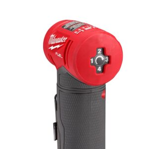 Milwaukee M12 FUEL 12-Volt Lithium-Ion Brushless Cordless 1/4 in. Right Angle Die Grinder Kit w/ (2) 2.0Ah Batteries