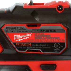 Milwaukee M12 12-Volt Lithium-Ion Cordless 3/8 in. Hammer Drill/Driver Kit with Two 1.5 Ah Batteries and Hard Case