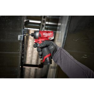 Milwaukee M12 FUEL 12-Volt Lithium-Ion Brushless Cordless 1/4 in. Hex Impact Driver Kit With Bonus M12 2.0Ah Battery