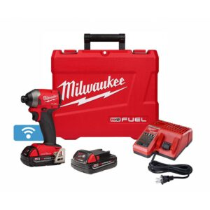 Milwaukee M18 FUEL ONE-KEY 18-Volt Lithium-Ion Brushless Cordless 1/4 in. Hex Impact Driver Kit W/ (2) 2.0Ah Batteries, Hard Case
