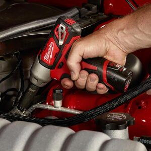 Milwaukee M12 12-Volt Lithium-Ion Cordless 3/8 in. Impact Wrench Kit W/ (2) 1.5Ah Batteries, Charger & Hard Case