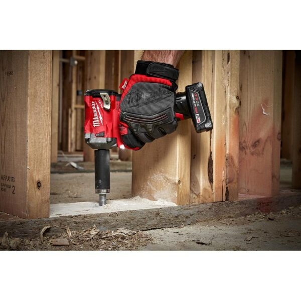 Milwaukee M12 FUEL 12-Volt Stubby 3/8 in. Lithium-Ion Brushless Cordless Impact Wrench with M12 2.0Ah Battery