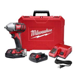 Milwaukee M18 18-Volt Lithium-Ion Cordless 3/8 in. Impact Wrench W/ Friction Ring W/(2) 1.5Ah Batteries, Charger, Hard Case