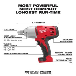 Milwaukee M18 18-Volt Lithium-Ion Cordless 7/16 in. Impact Wrench (Tool-Only)