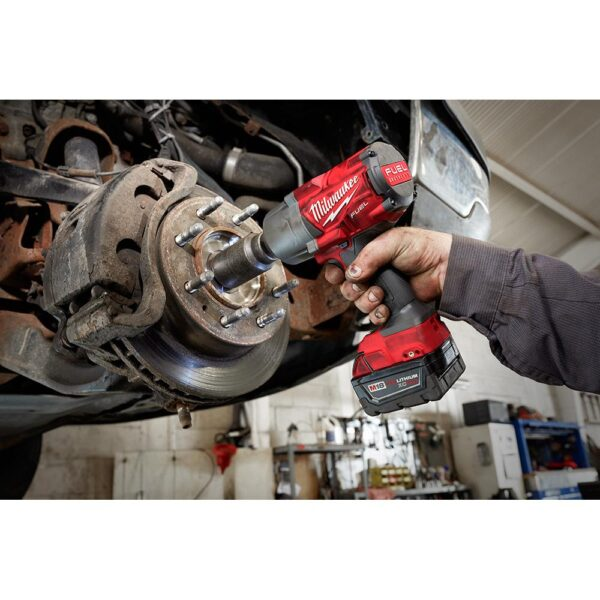 Milwaukee M18 FUEL 18-Volt 1/2 in. Lithium-Ion Brushless Cordless Impact Wrench w/ Friction Ring & Bandsaw w/ Two 6.0Ah Batteries