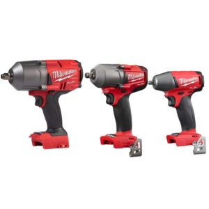 Milwaukee M18 FUEL 18-Volt Lithium-Ion Brushless Cordless 1/2 in. High Torque/Mid Torque/3/8 in. Impact Wrench Combo Kit (3-Tool)