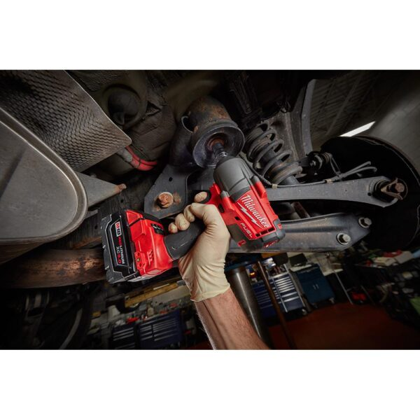 Milwaukee M18 FUEL 18-Volt Lithium-Ion Brushless Cordless Mid Torque 1/2 in. Impact Wrench W/Friction Ring Kit W/(2) 5.0Ah Battery