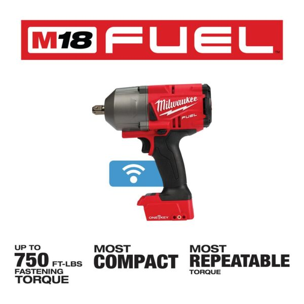 Milwaukee M18 FUEL ONE-KEY 18-Volt Lithium-Ion Brushless Cordless 1/2 in. Impact Wrench with Pin Detent (Tool-Only)