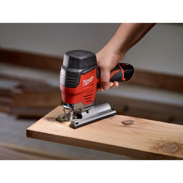 Milwaukee M12 12-Volt Lithium-Ion Cordless Jig Saw and Multi-Tool Combo Kit W/ (1) 2.0Ah Battery and Charger