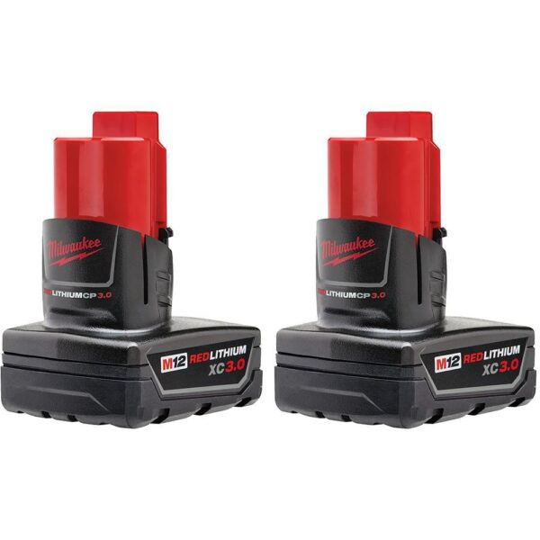 Milwaukee M12 12-Volt Lithium-Ion Cordless Jig Saw and Crown Stapler with two 3.0 Ah Batteries