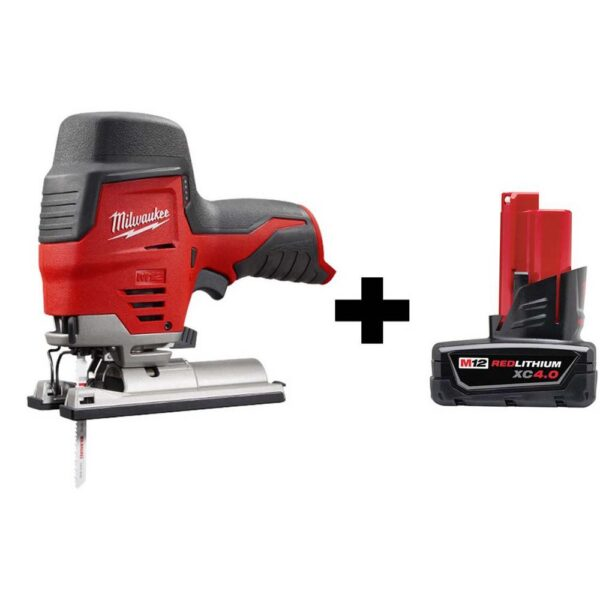 Milwaukee M12 12-Volt Lithium-Ion Cordless Jig Saw with 4.0 Ah Battery