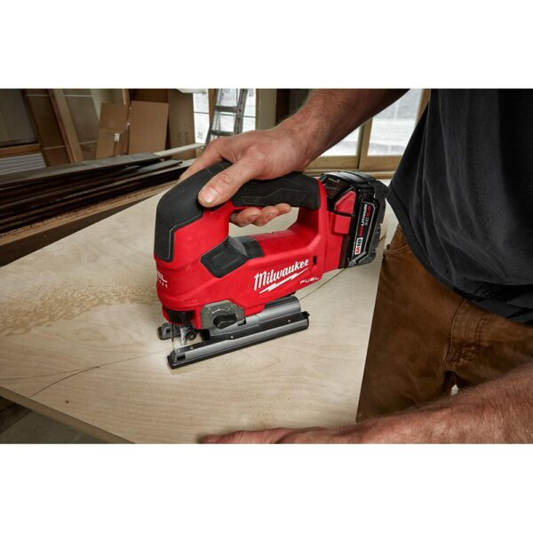 Milwaukee M18 FUEL 18-Volt Lithium-Ion Brushless Cordless Jig Saw (2-Tool) with (2) 6.0Ah Batteries
