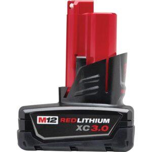 Milwaukee M12 12-Volt Lithium-Ion Cordless 750 Lumens TRUEVIEW LED Spotlight with M12 Jobsite Speaker and 3.0 Ah Battery