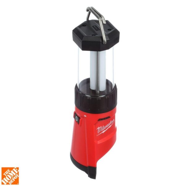 Milwaukee M12 12-Volt Lithium-Ion Cordless 400-Lumen LED Lantern/Flood Light W/ M12 Portable Power Source/Charger & 3.0Ah Battery
