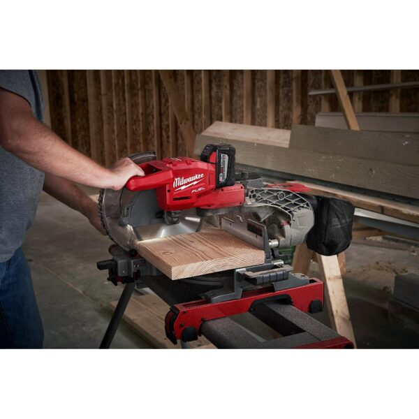 Milwaukee M18 FUEL 18-Volt Lithium-Ion Brushless Cordless 10 in. Dual Bevel Sliding Compound Miter Saw (Tool-Only)
