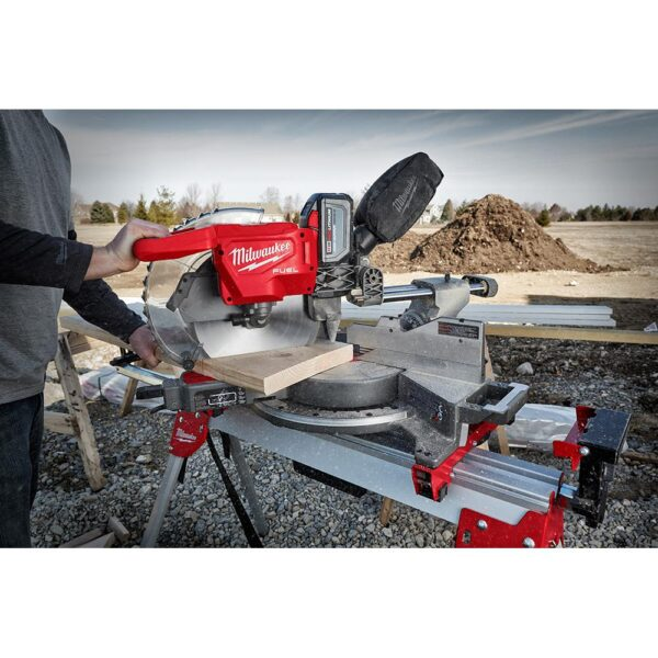 Milwaukee M18 FUEL 18-Volt Lithium-Ion Brushless 12 in. Cordless Dual Bevel Sliding Compound Miter Saw with 18-Gauge Brad Nailer